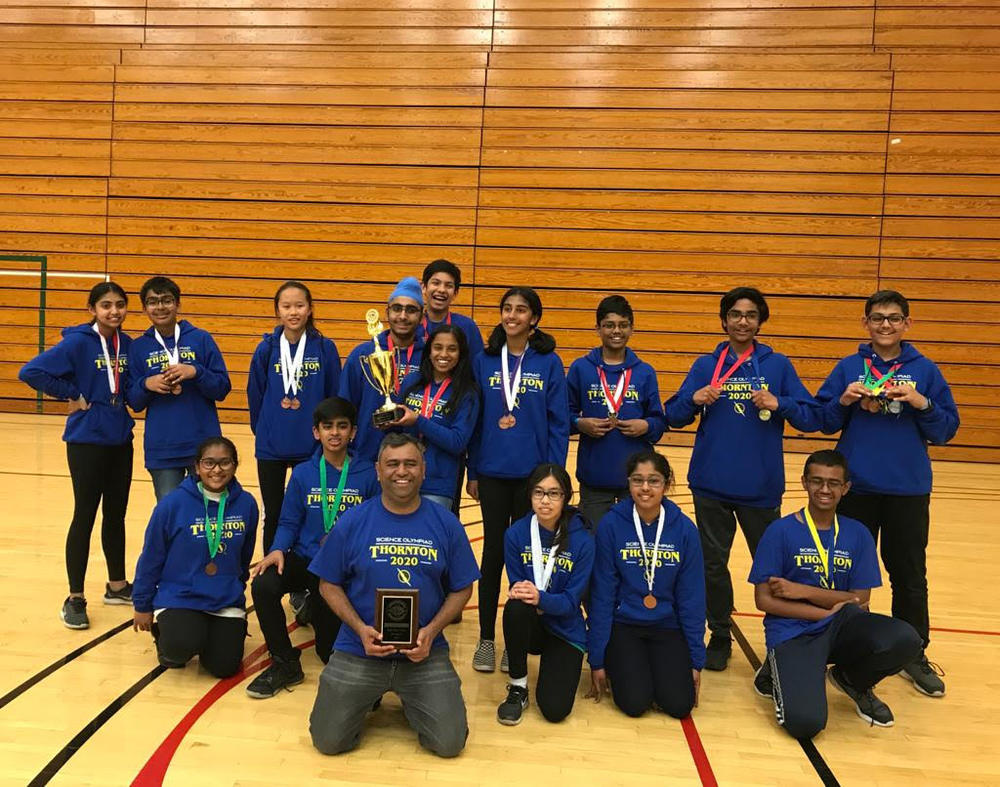 Thornton Junior High  Blue  Science Olympiad Team