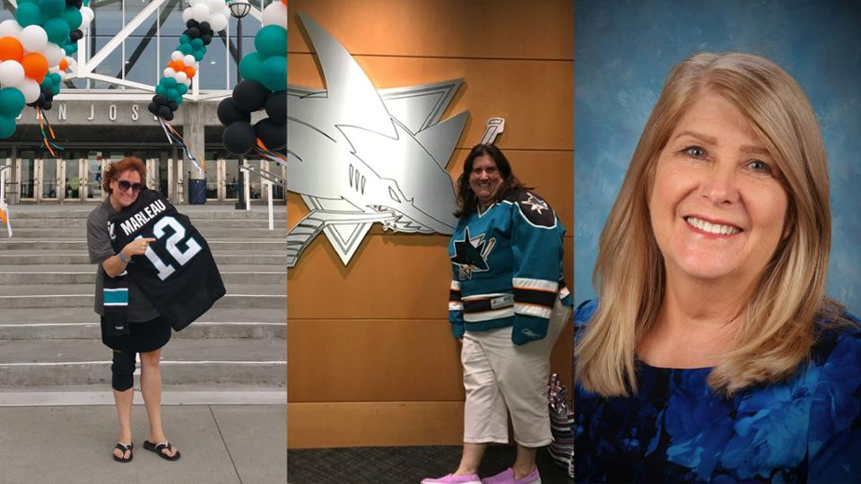 Niles Elementary 5th-grade teacher Lisa Schinkel  left  outside SAP Center in San Jose.