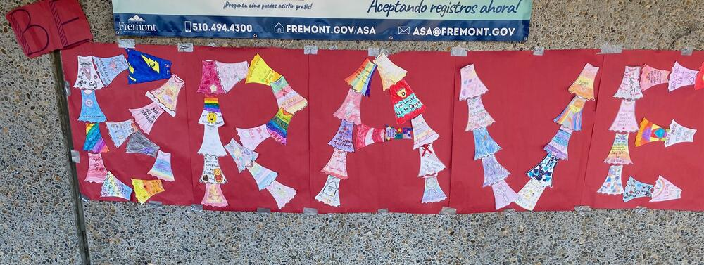 Some student-created art decorating the Brier Elementary campus to celebrate Red Ribbon Week...