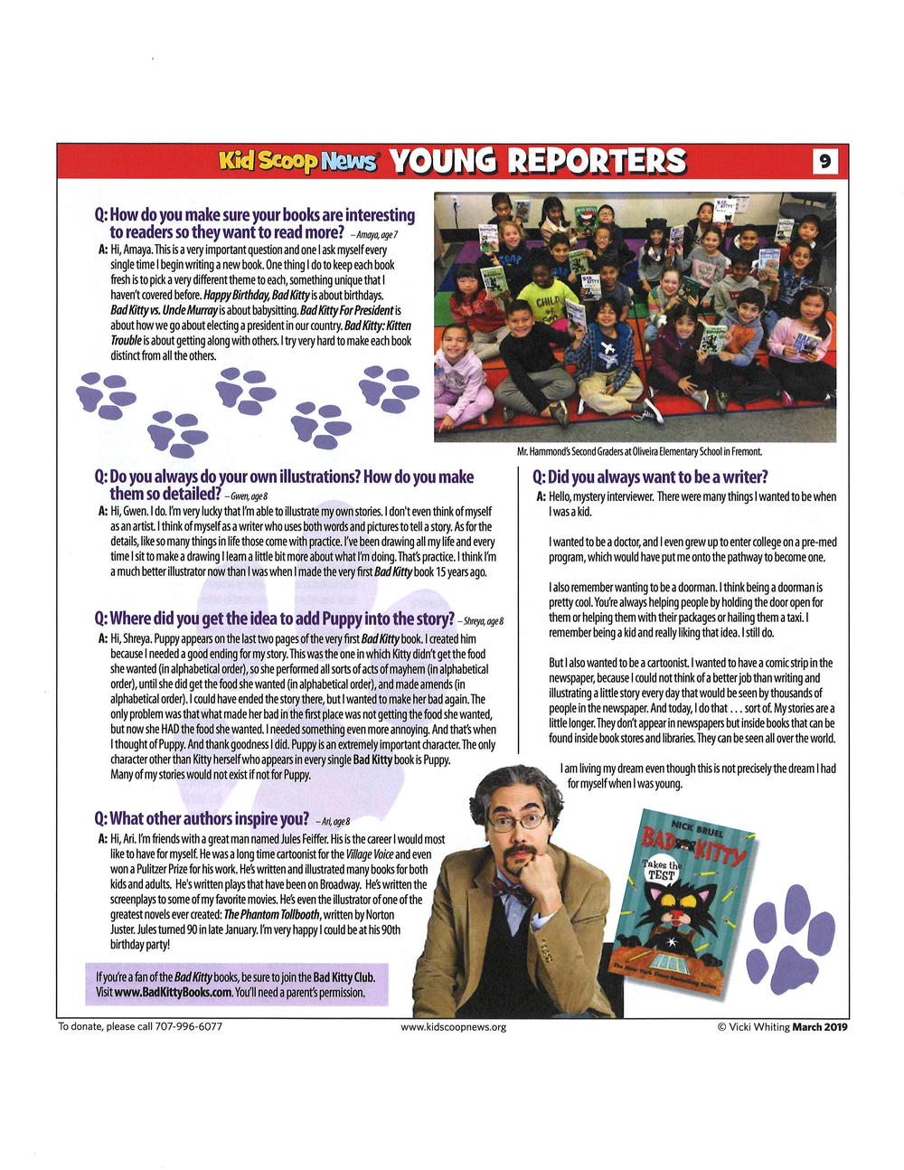 Page 2 of Young Reporters article.