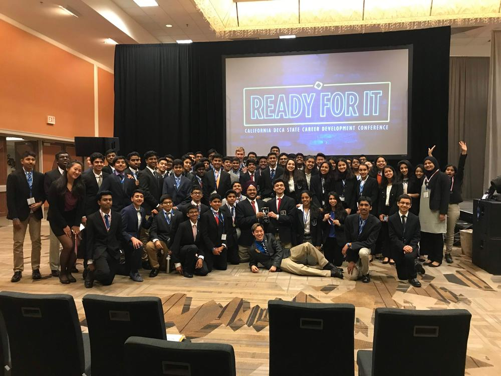 Washington High School DECA students pose at State Conference March 2nd.