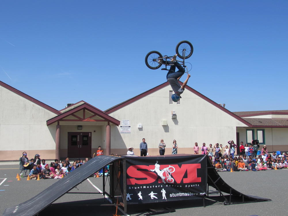 StuntMaster flips for Forest Park students May 29th.