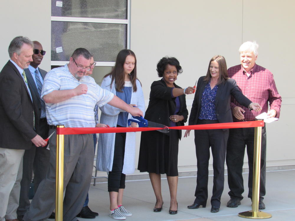 School and District officials cut the ribbon opening Walters Middle School August 20th.
