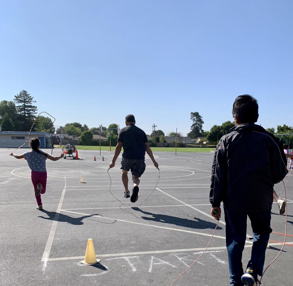 Oliveira students Jump Rope for Heart.
