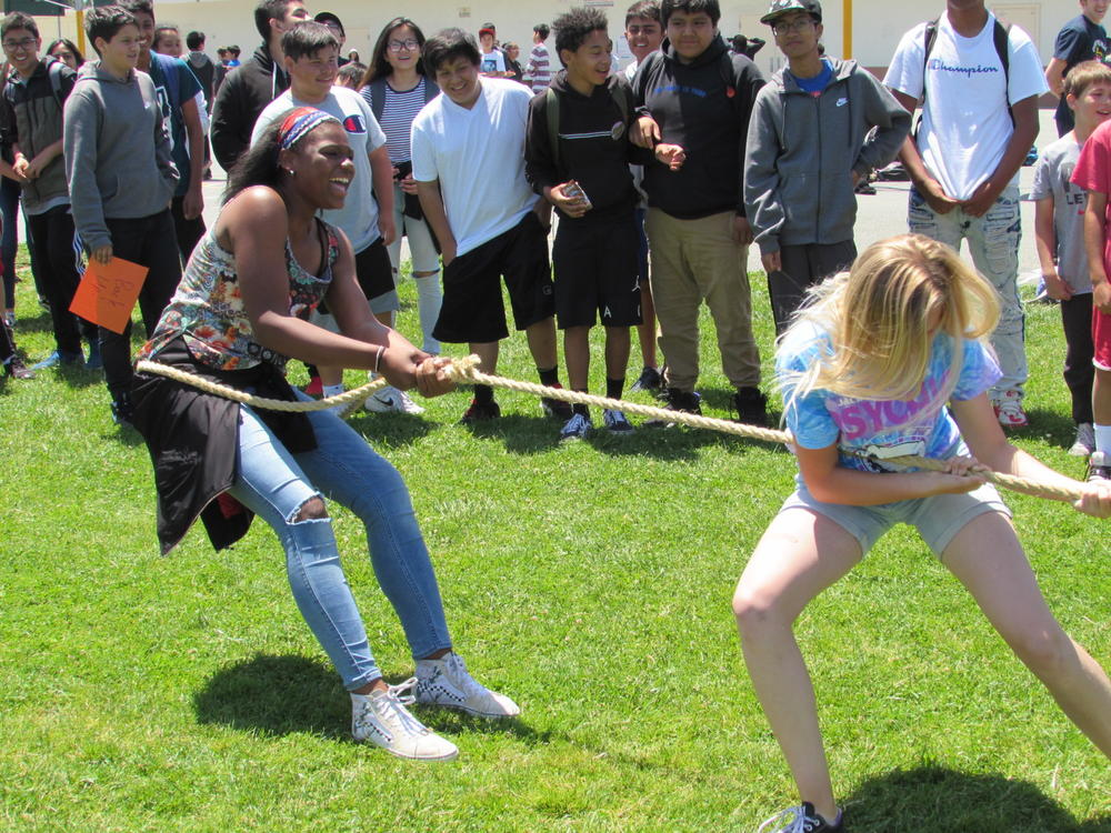 Centerville students battle during Tug of War competition June 4th.