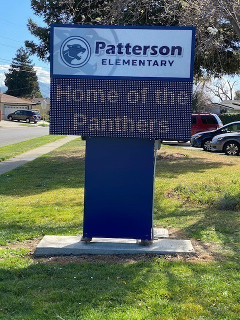 New marquee at Patterson Elementary School