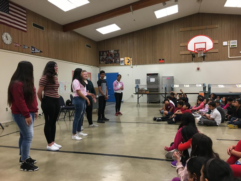 Irvinggton students perform at Green Elementary School.