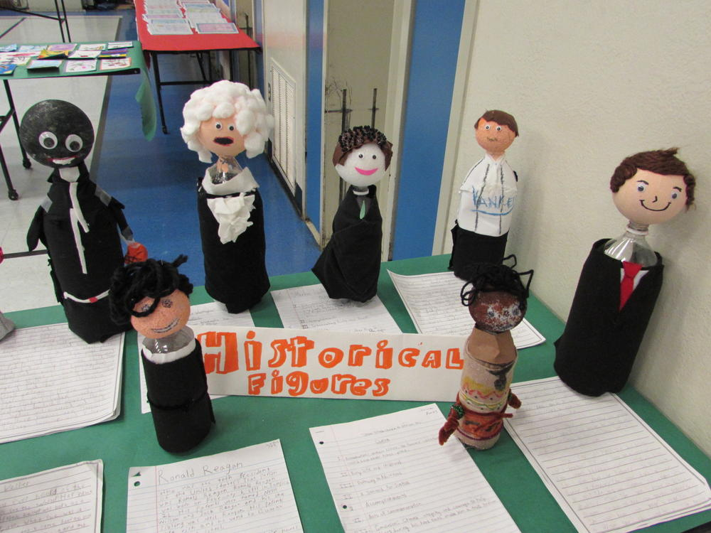 Display from Grimmer Elementary s Arts Block Museum.