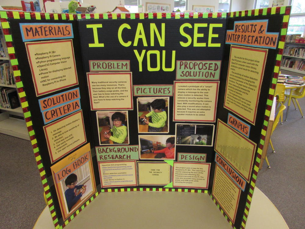 Science Fair display from Maloney Elementary.