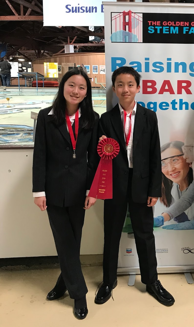 Hopkins Junior High brother-sister team, Emma and Brian Li, won 2nd-place in their category - 7th grade Engineer and Computer Science.