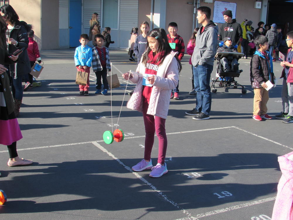 Azevada students enjoy activities at Lunar New Year Carnival.