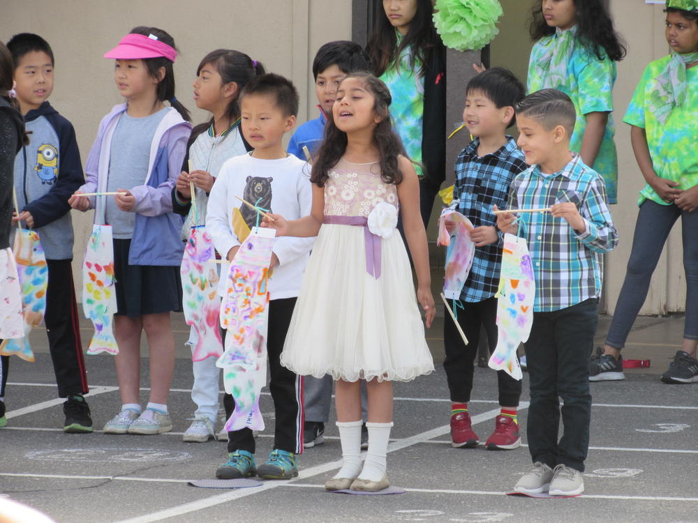 Green Elementary students perform at Multi-Cultural Week assembly May 24th.