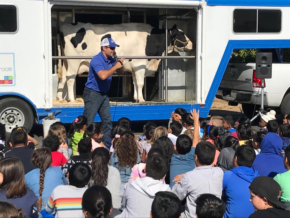 Dairy Council of California talks healthy eating with Durham students October 14th.