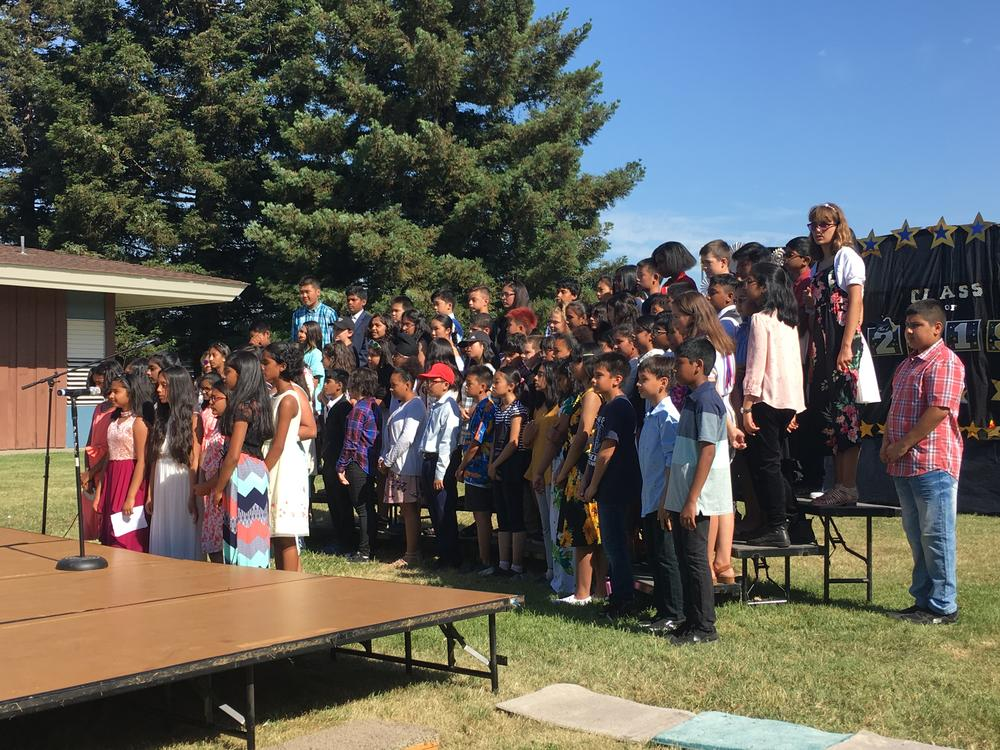 Hirsch 6th-graders at their Promotion Ceremony.