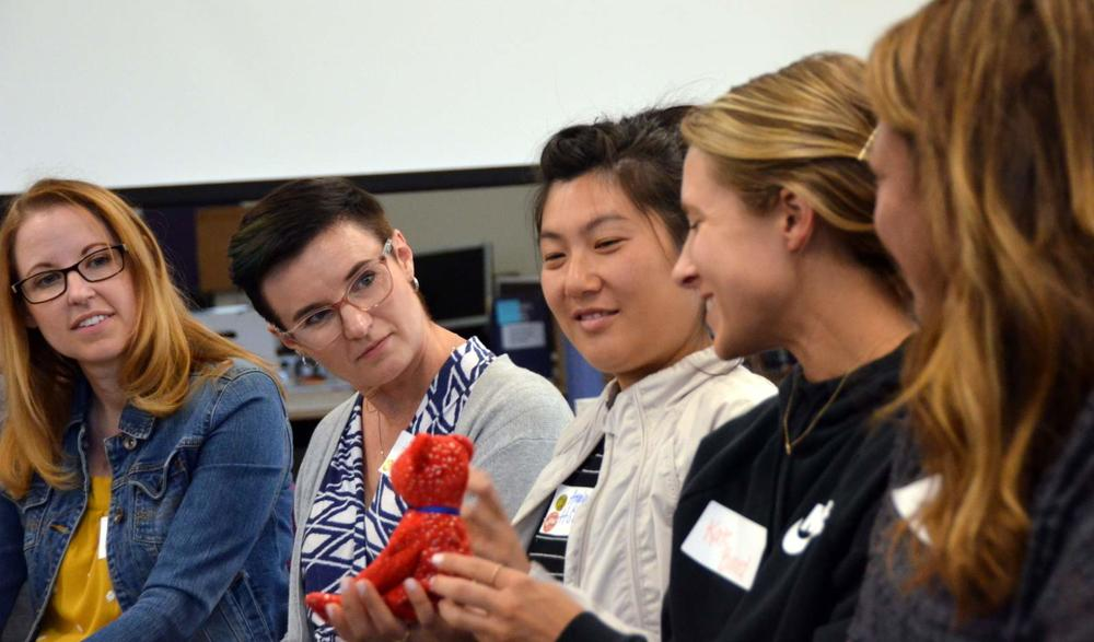 Walters Middle School teachers participate in group activity.
