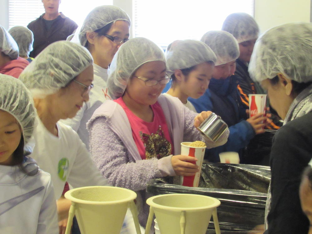 Azevada students pack meals for Kids Against Hunger Feb. 11th.