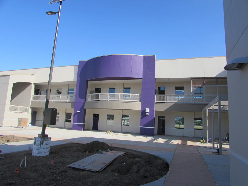 New building at Walters Middle School.