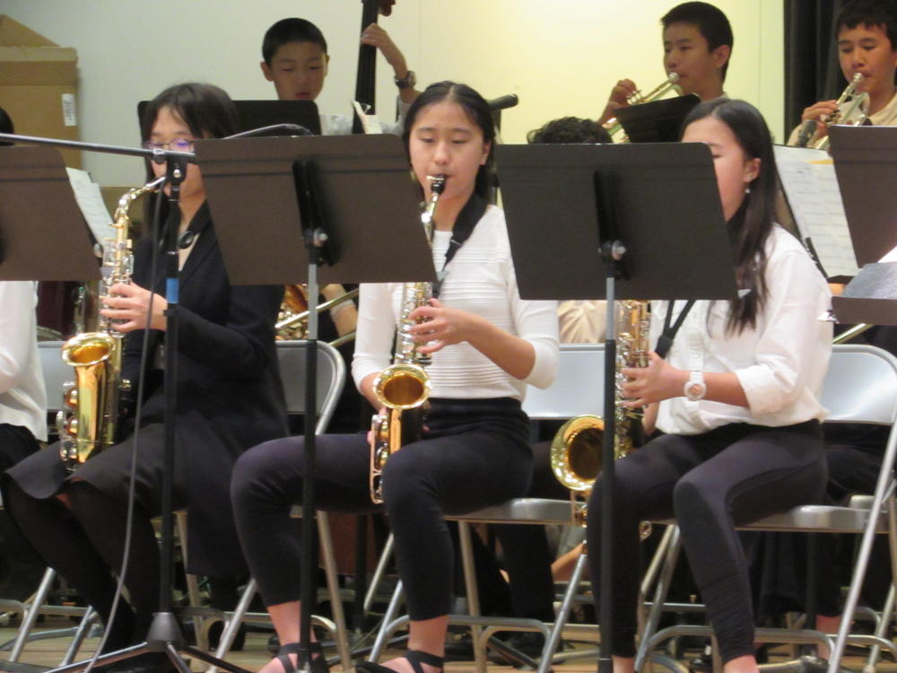 Hopkins student-musicians perform at Chadbourne Elementary December 13th.