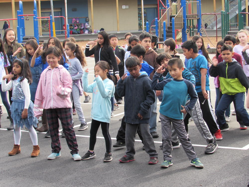 Patterson students take part in the  Get Up Challenge  December 5th.