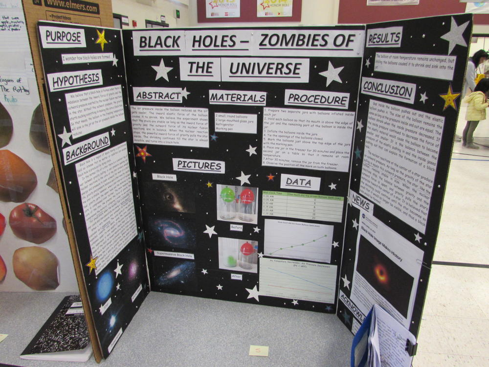 Science Fair display from Durham Elementary.