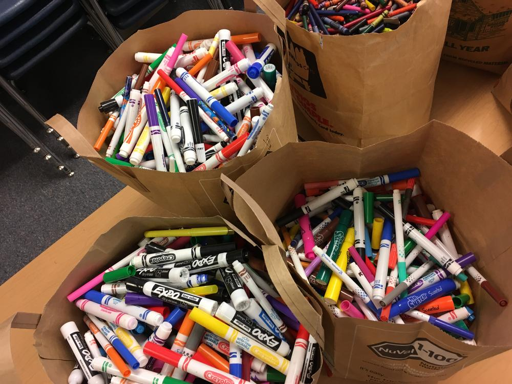 Donated markers collected by Patterson Community Service Project Team.