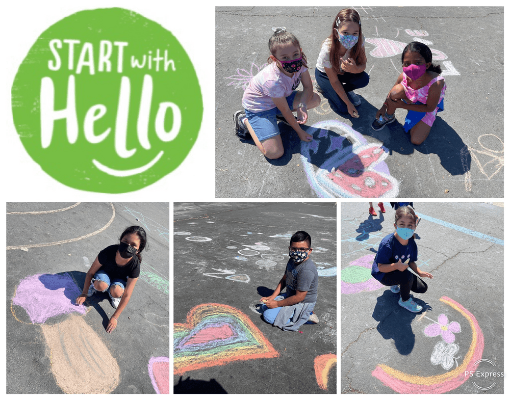 Photo collage from Cabrillo Start with Hello week